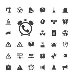 33 alert icons vector