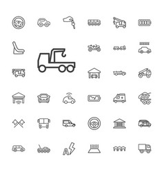 33 auto icons vector