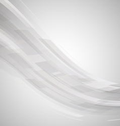 Abstract black and white wave technology vector