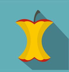 Apple stump icon flat style vector