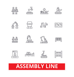 Assembly line factory industry manufacturing vector