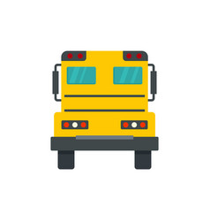 Back of school bus icon flat style vector
