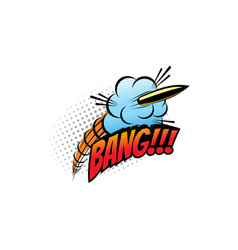 bang sound blast explosion cartoon comic book vector image