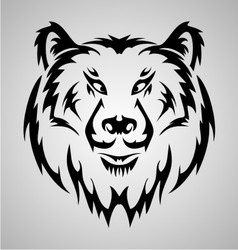Bear Face Tattoo vector image