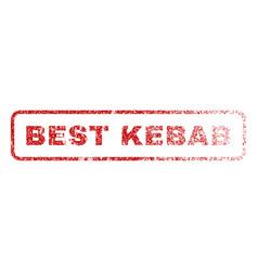 Best kebab rubber stamp vector