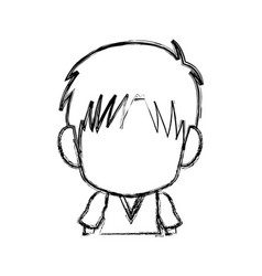 Blurred silhouette of faceless head of little kid vector