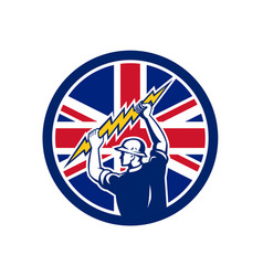 British electrician union jack flag icon vector