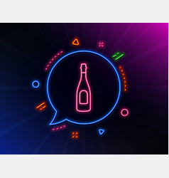 champagne bottle line icon anniversary alcohol vector image
