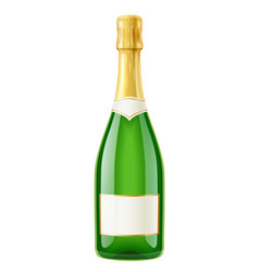 Champagne wine bottle french vector