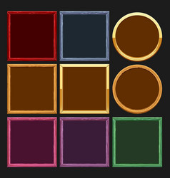 Colored frames collections vector