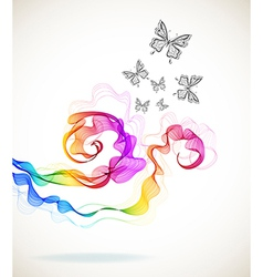 colorful abstract background with butterfly vector image