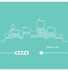 Concept electric circuit city flat design vector
