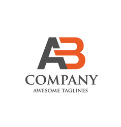 Creative letter ab logo vector