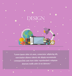 Design concept with text iconsymbol vector