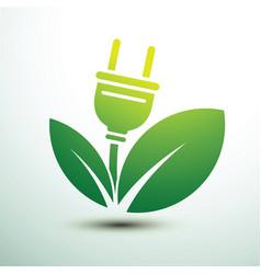 eco power plug vector image