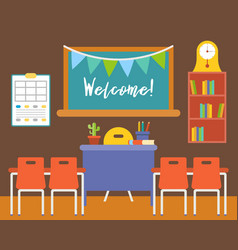 empty classroom or study room interior background vector image