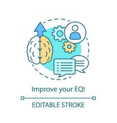 Eq improvement concept icon vector