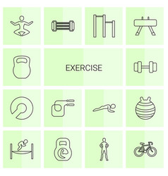 Exercise icons vector