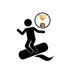 extreme sport avatar water skiing vector image