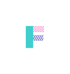 F geometric letter logo icon design vector