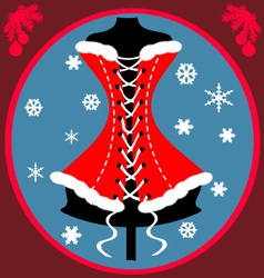 Festive corset vector