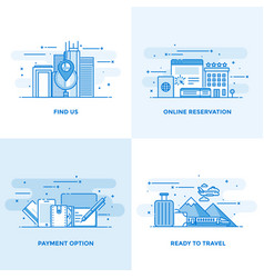 Flat line designed concepts 10 vector