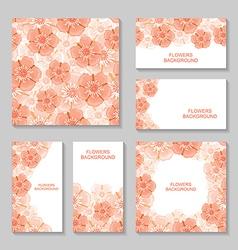flower backg set vector image