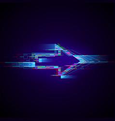 Futuristic cyberpunk glitch right arrow modern vector