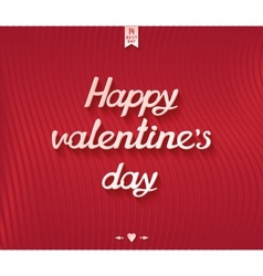 Happy valentines day inscription postcard design vector image