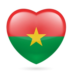 Heart icon of Burkina Faso vector image