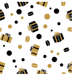holiday presents seamless pattern vector image