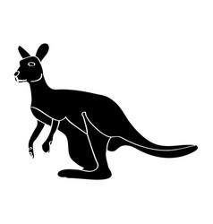 isolated kangaroo silhouette vector image