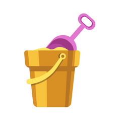 Kid toy or children plaything sand bucket scoop vector