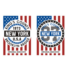 kings county new york vector image