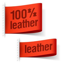 Leather product clothing labels vector