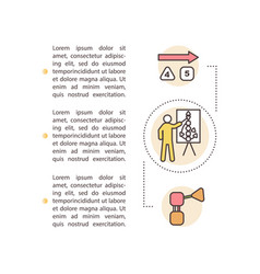 Life coaching concept icon with text vector
