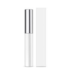 lipstick balm with metallic cap and cardboard box vector image