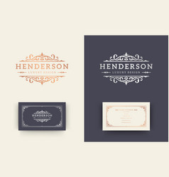 luxury logo crest template design vector image