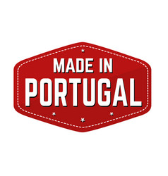 made in portugal label or sticker vector image
