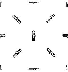 man pattern seamless vector image
