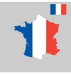 map france in french flag colors style vector image
