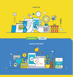 marketing business investment payment methods vector image vector image