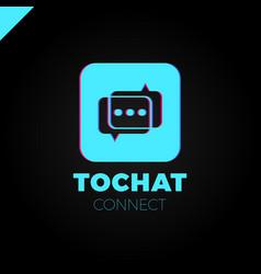 mini chat logo bubble and three dots vector image