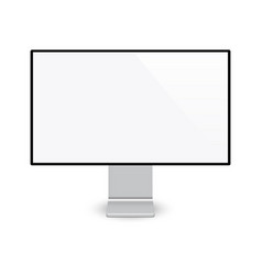 Modern computer display screen isolated vector