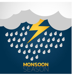 monsoon season logo icon design vector image