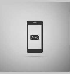 new email notification on the smartphone screen vector image