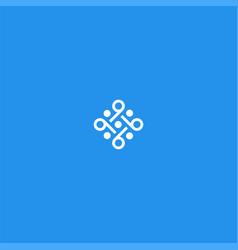 nine or pattern symbol design vector image