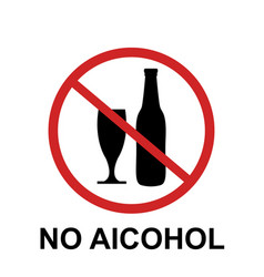 no alcohol sing vector image
