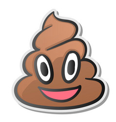 Pile of poo emoji shit icon smiling face vector