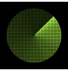 Radar screen sonar icon vector image